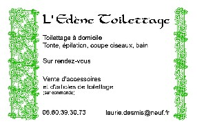 logo L'Edène Toilettage