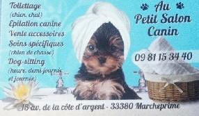 au petit salon canin Marcheprime